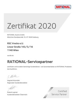 Rational Service Partner-Zertifikat